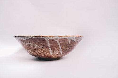 Large shino salad bowl 28cm x 15cm