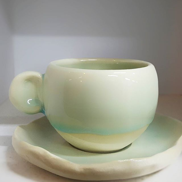 Little espresso cups and saucers we made for _thrivekitchensg awhile ago