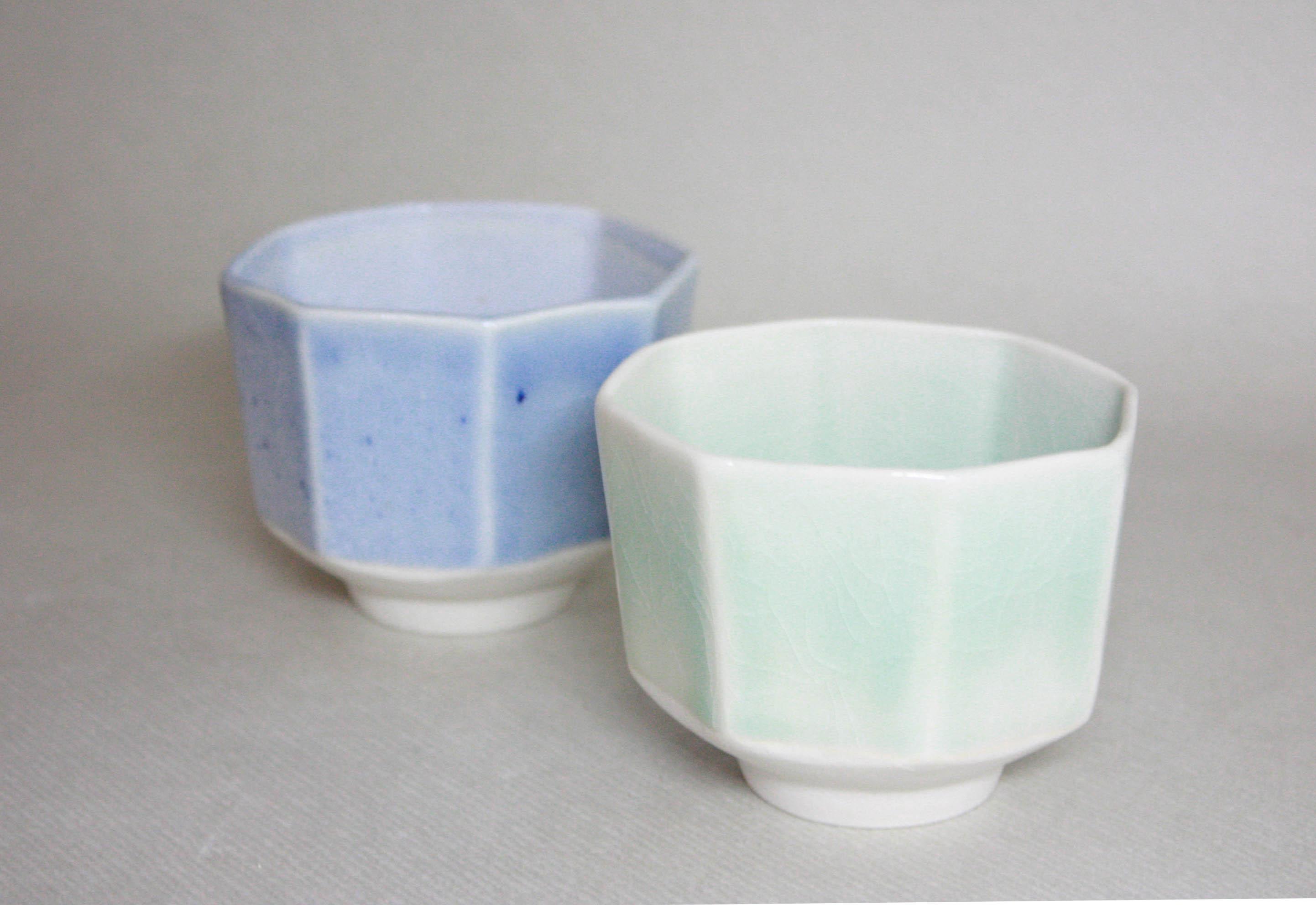 hexagonal tea cups