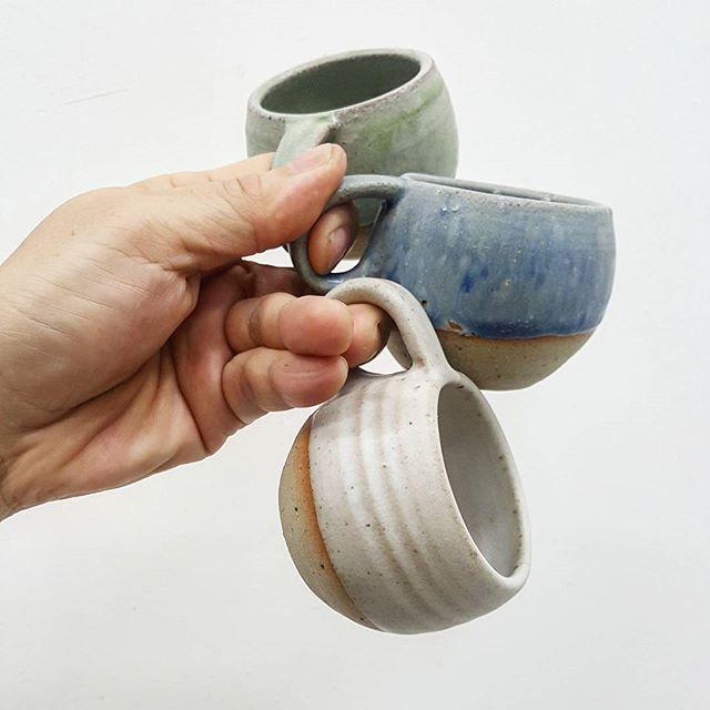 Baby dino espresso mugs! _#happilyhandmade #espressomugs _#handmademugs #madeinSingapore #50ml #hand