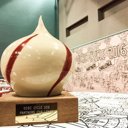 OCBC Cycle trophies