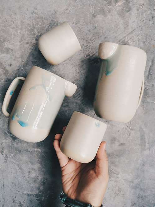 Celadon Jug with cups