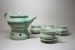 Tea set with burner