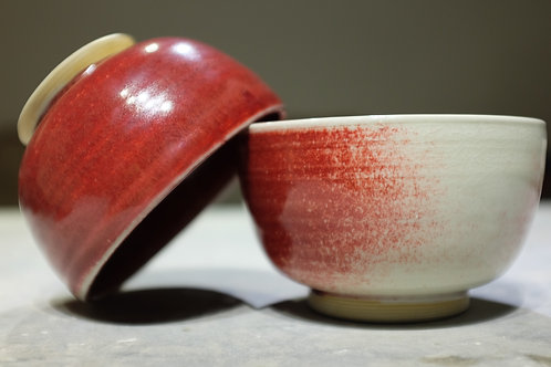 Ox blood noodle soup bowl