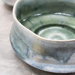 Misty green blue bowls
