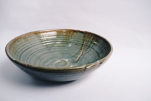 Large Celadon salad bowl 28cm x 11cm