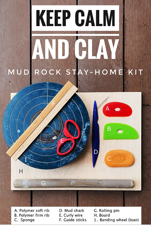 Stay home complete pottery kit & clay