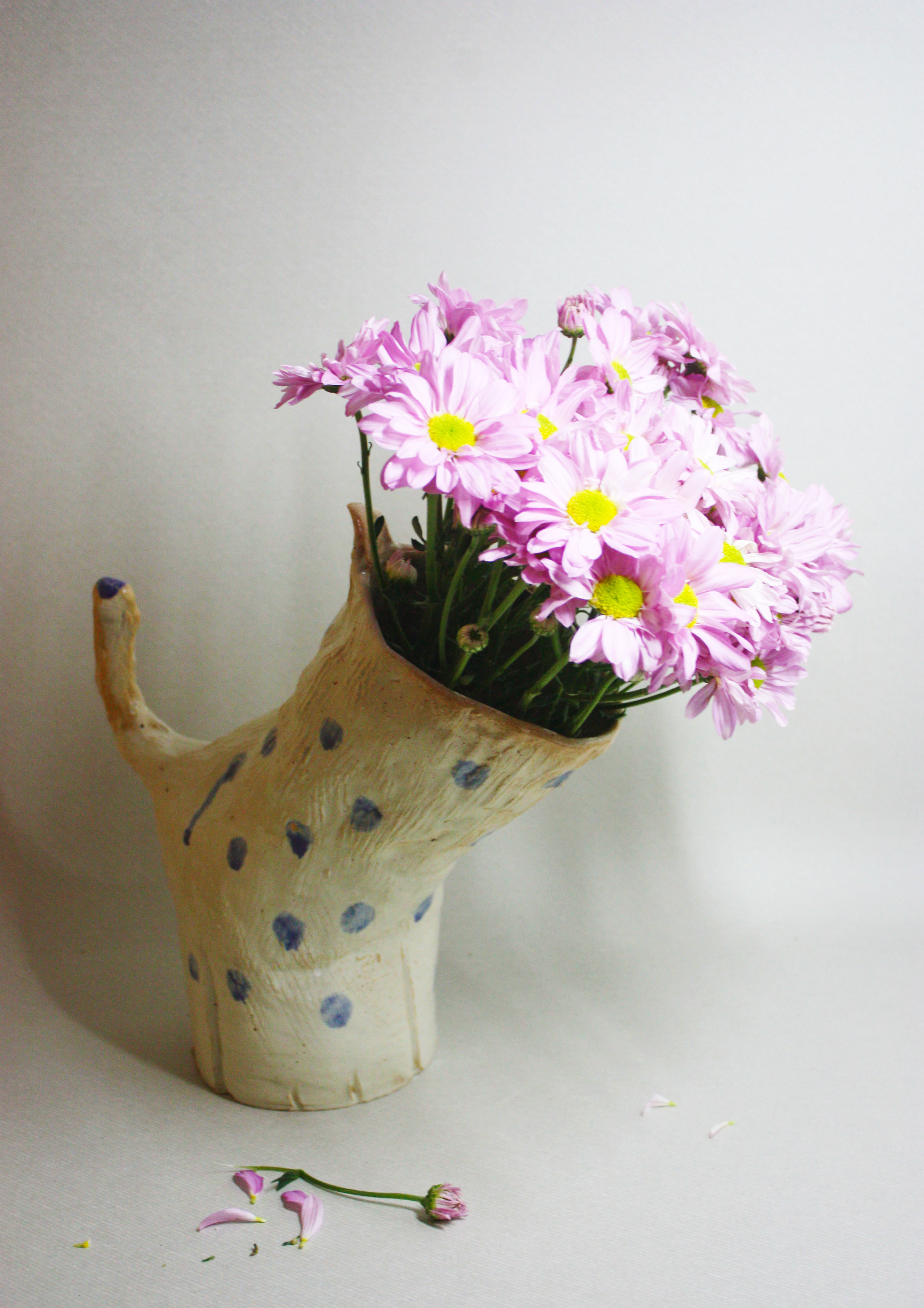 Poof the spotty vase