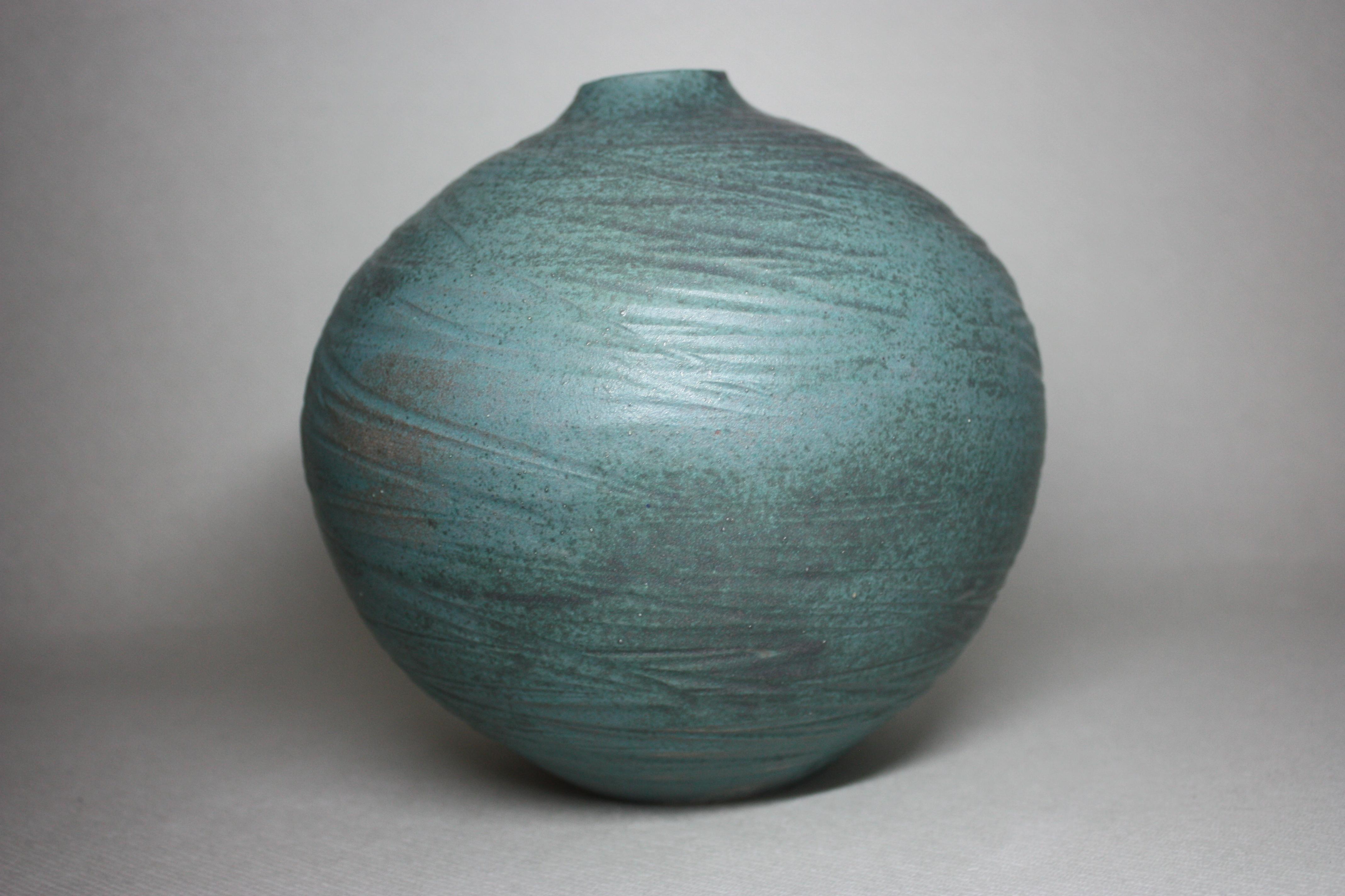 Sea green bud vase