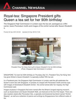 Tea set for the Queen CNA Article
