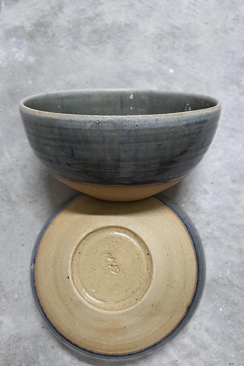 Dino Ramen bowl glossy blue