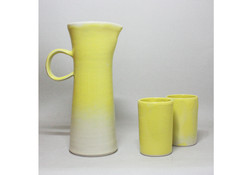 pitcher and tumblers