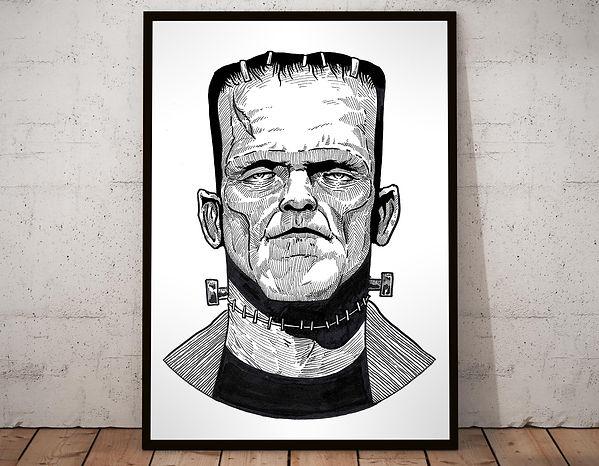 Frankensteins Monster Black & White.jpg