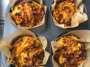 Sweet potato & cheese muffins with Chilli & thyme (GF)