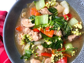 Immune boosting Gut Healing Easy Chicken & Veggie Soup