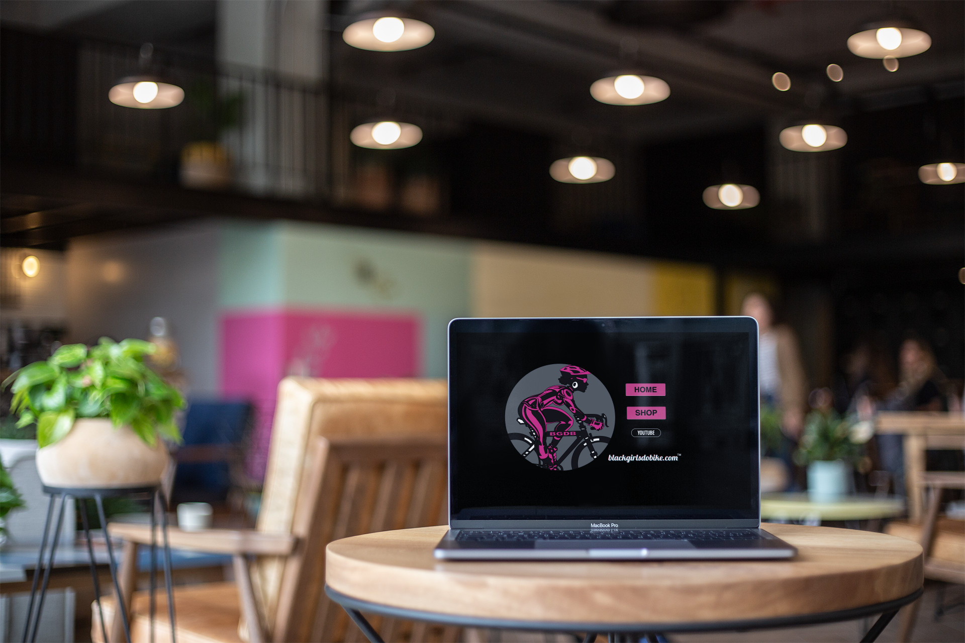 BGDB Coffee Shop Laptop