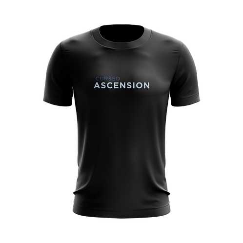 """ᑕΛ·03 - """"Cursed Ascension"""" Text Shirt"""