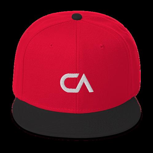 CA Logo Snapback | White Logo