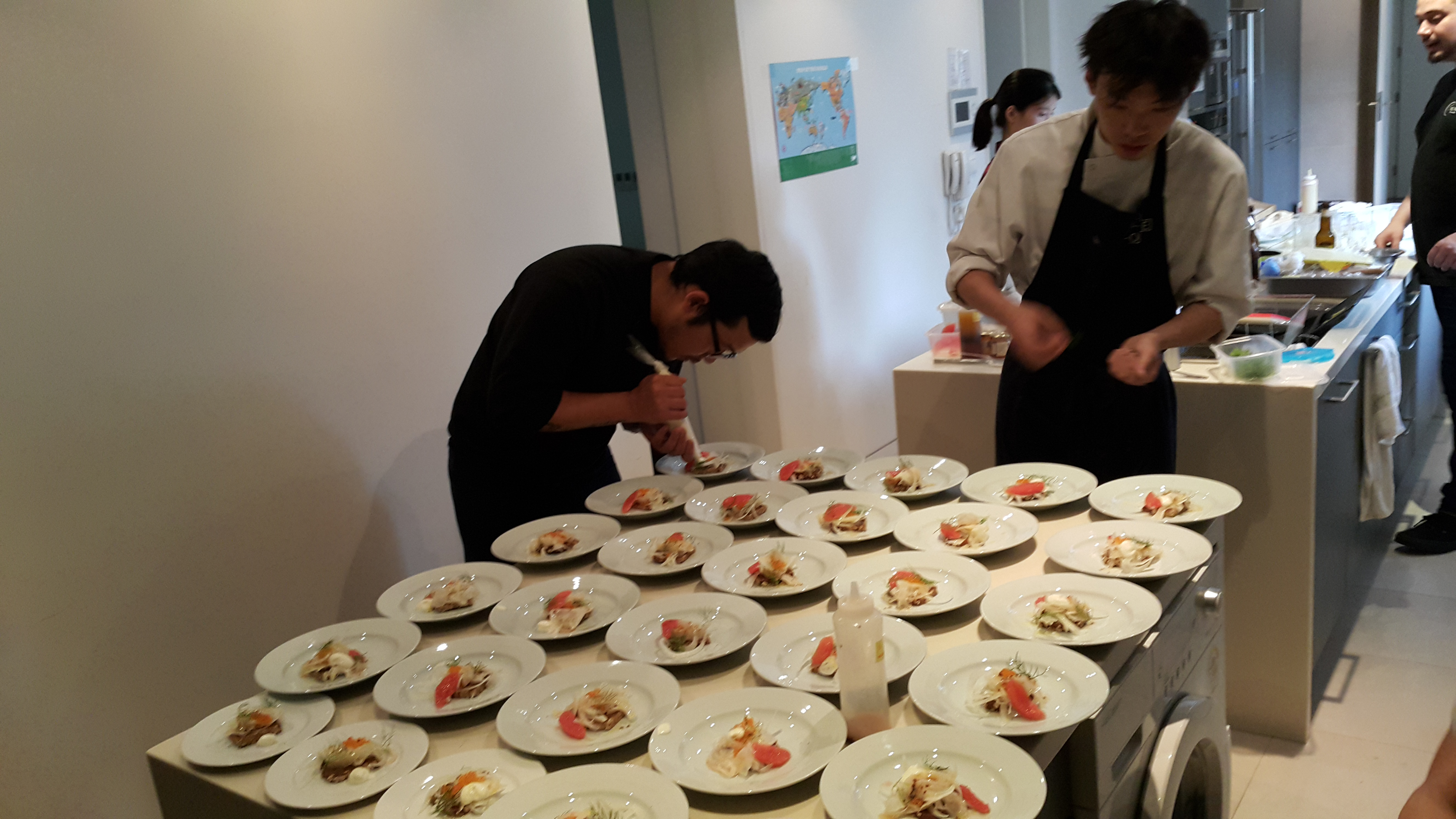 Terreno's Chef Carlos Shin Plating