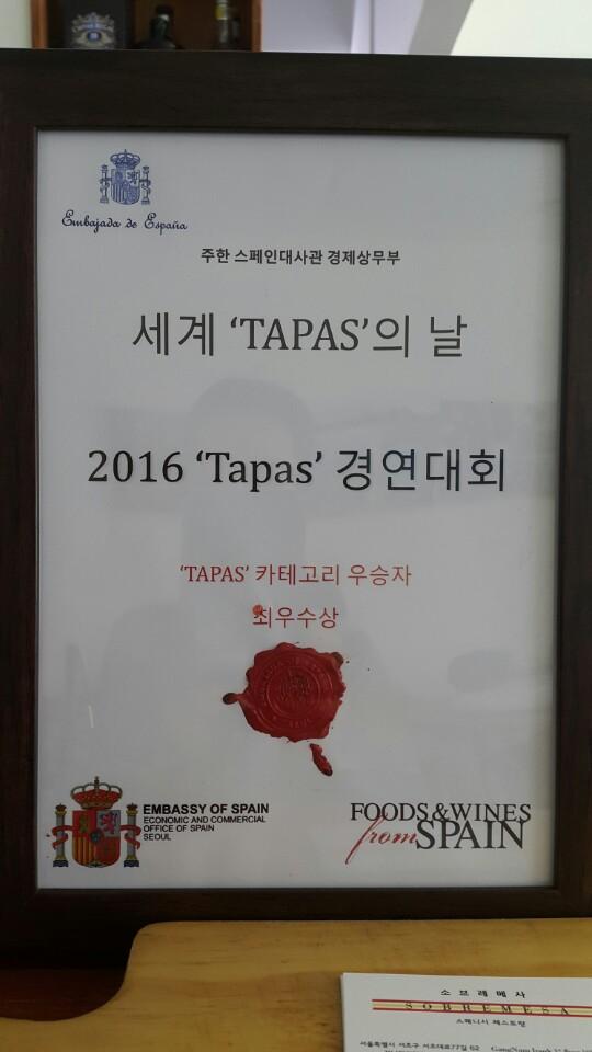Award Best Tapa 2016