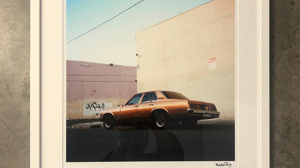 "Junction, by Michael Tilley, 20"" x 20"", Framed 22"" 22"""