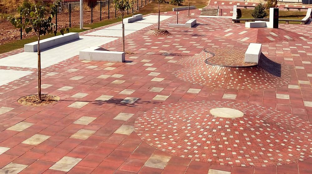 Daniel's texture heavy Logrono Street Plaza.