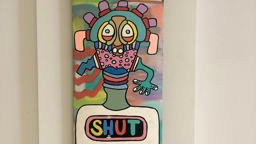 "#Shut by Cory the Creative, 2019, Framed Print, 20"" x 26"""