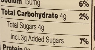 The new Nutrition Facts label lists added sugars