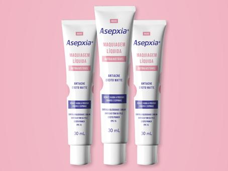 Asepxia® lança Maquiagem Líquida Autoajustável