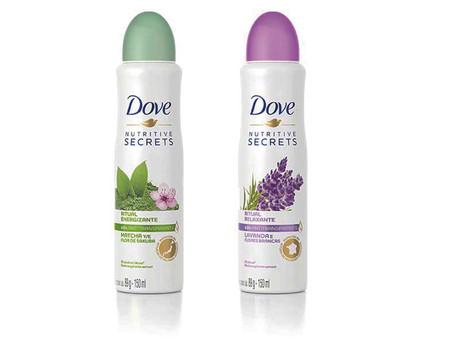Dove lança linha de desodorantes Nutritive Secrets