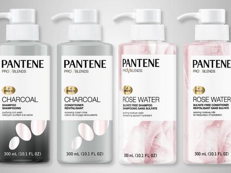 Pantene traz os lançamentos Rose Water e Charcoal com carvão ativado