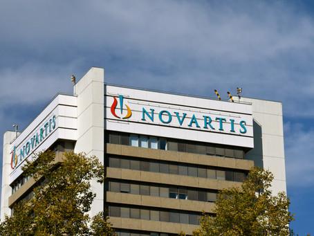 Lucro da Novartis cai 12,5% no 2º trimestre, mas vendas sobem 4%