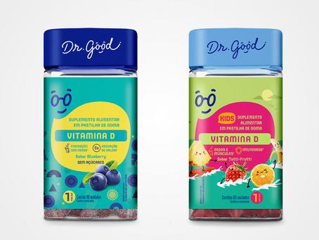 Vitamina D Dr. Good fortalece a saúde de adultos e crianças