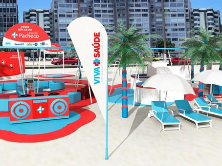 Drogarias Pacheco cria posto de Bem-Estar em praia carioca