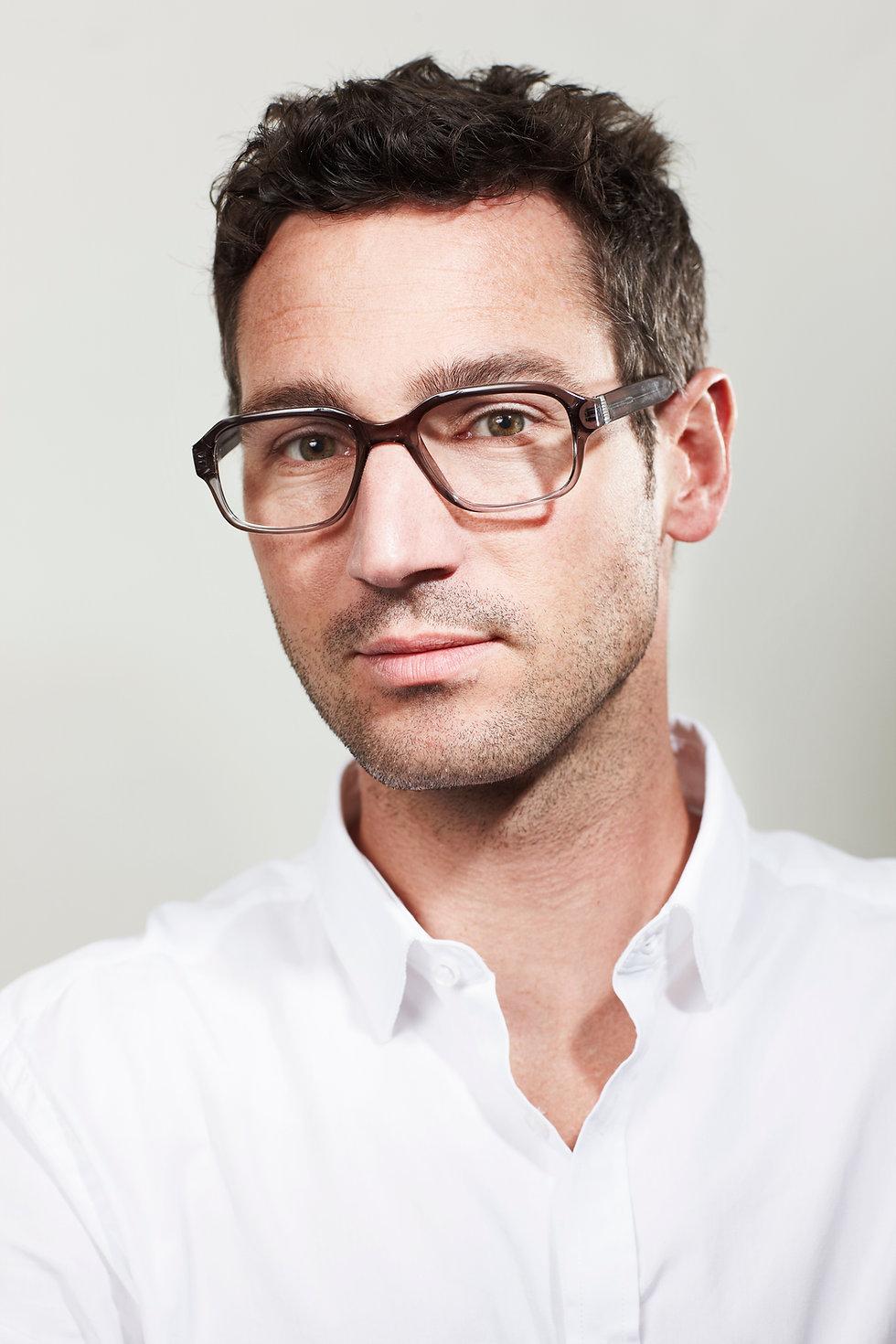 Men portrait with glasses