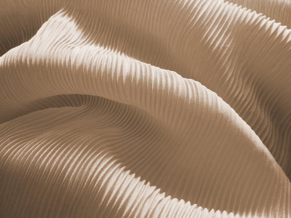 Light pleated crepe fabric