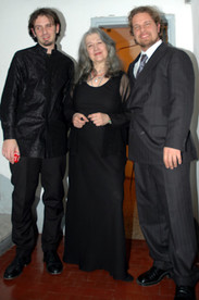 Marco with Gabriele Baldocci and Martha Argerich