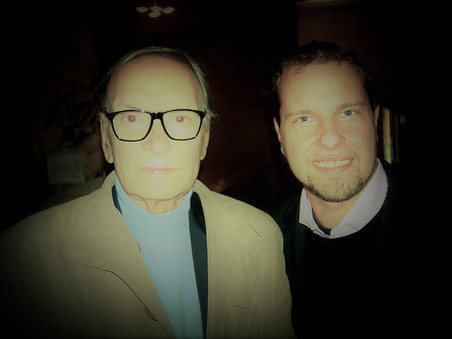 Marco with Ennio Morricone