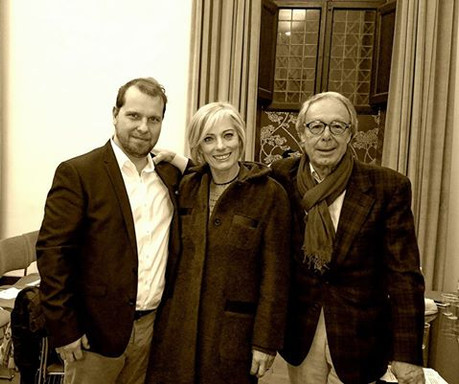 Marco with Maria Concetta Mattei and Massimo De Angelis