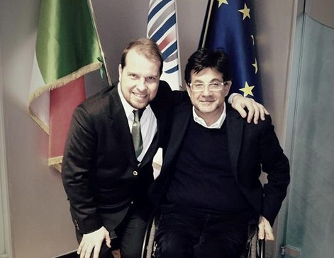 Marco with Luca Pancalli