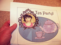 Kidfunideas.com fancy tea party place mat craft- inserting your child's photo example picture