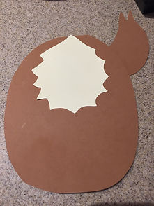 Kidfunideas.com Rudolph the red nose reindeer example picture - making the body