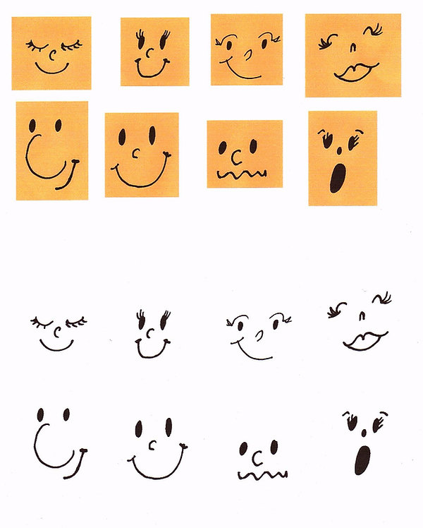 Kidfunideas.com grass buddies face pattern