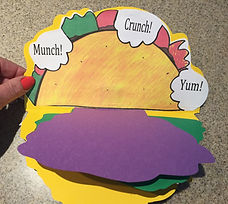 Kidfunideas.com What's in my Taco?! book for Cinco de Mayo picture of attaching the back page