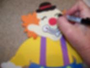 Kidfunideas.com clown paper bag puppet