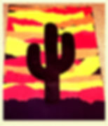 Kidfunideas.com Western sunset craft for kids