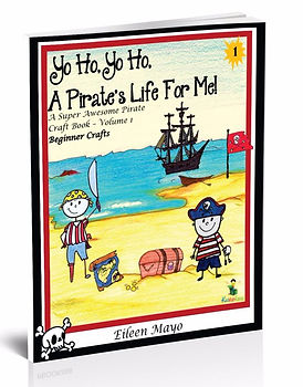 Kidfunideas.com Beginner Pirate craft and activity book for kids. Games and fun Pirate Projects for kids