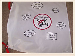 Kidfunideas.com Talk like a Pirate day t-shirt or flag craft for kids to make