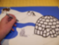 Kidfunideas.com Arctic scene and igloo picture step 2 picture