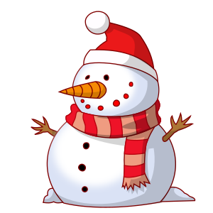 Kidfunideas.com Winter and Christmas jokes for kids picture of a snowman